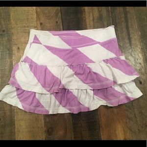 OLD NAVY Purple and White Striped Skirt w/shorts
